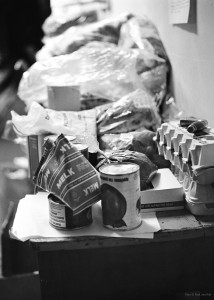Groceries were received and prepared for the occupiers. Courtesy of Paul van Riel
